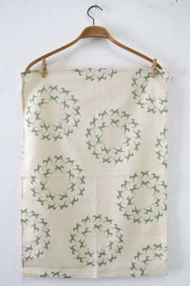 Tea towel - Colt circles, in Seafoam