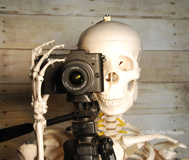 Men, Dude,Skeleton Photo,Camera, Fine Art Photography - SamieSam