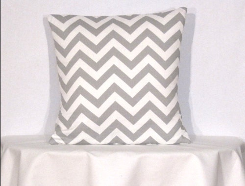 26 Inch Decorative Pillow Covers : Euro Throw Pillow 26 x 26 Inch Cover Chevron by DesignerPillowShop