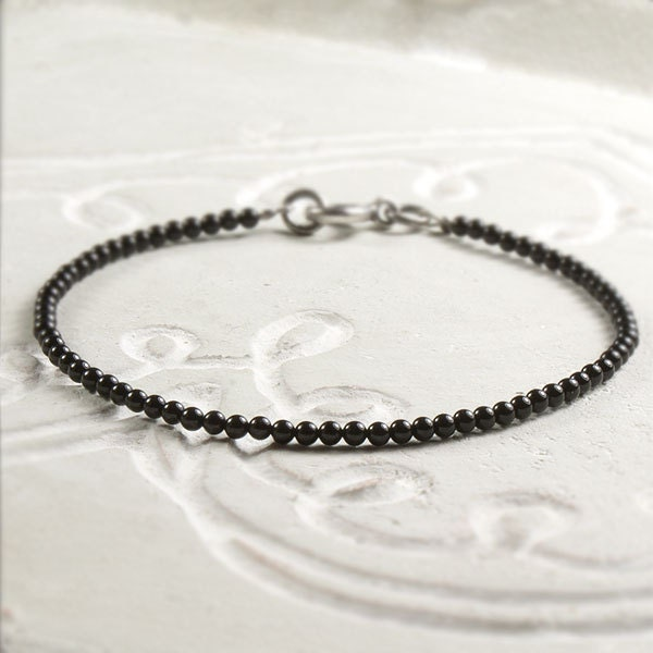 Onyx Bracelet, Sterling Silver Minimalist Simple Bracelet, Black  Modern Everyday Delicate Handmade Jewelry Jewellery, Silvergallerycomau - silvergallerycomau