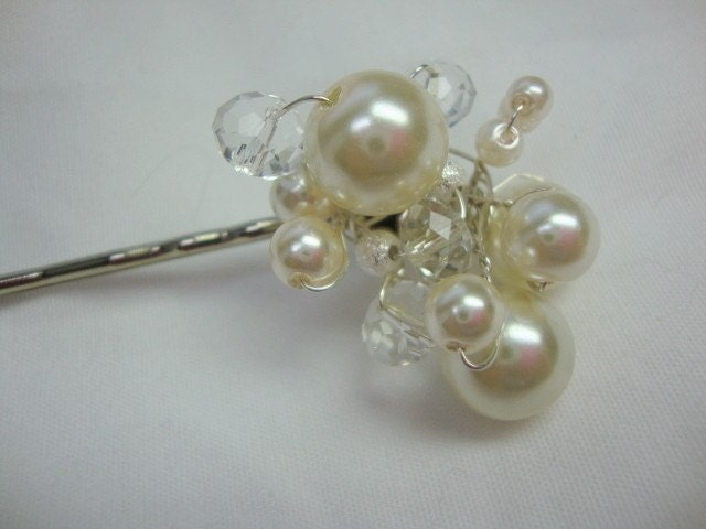 Wedding Hair Adornment with Pearls and Crystals