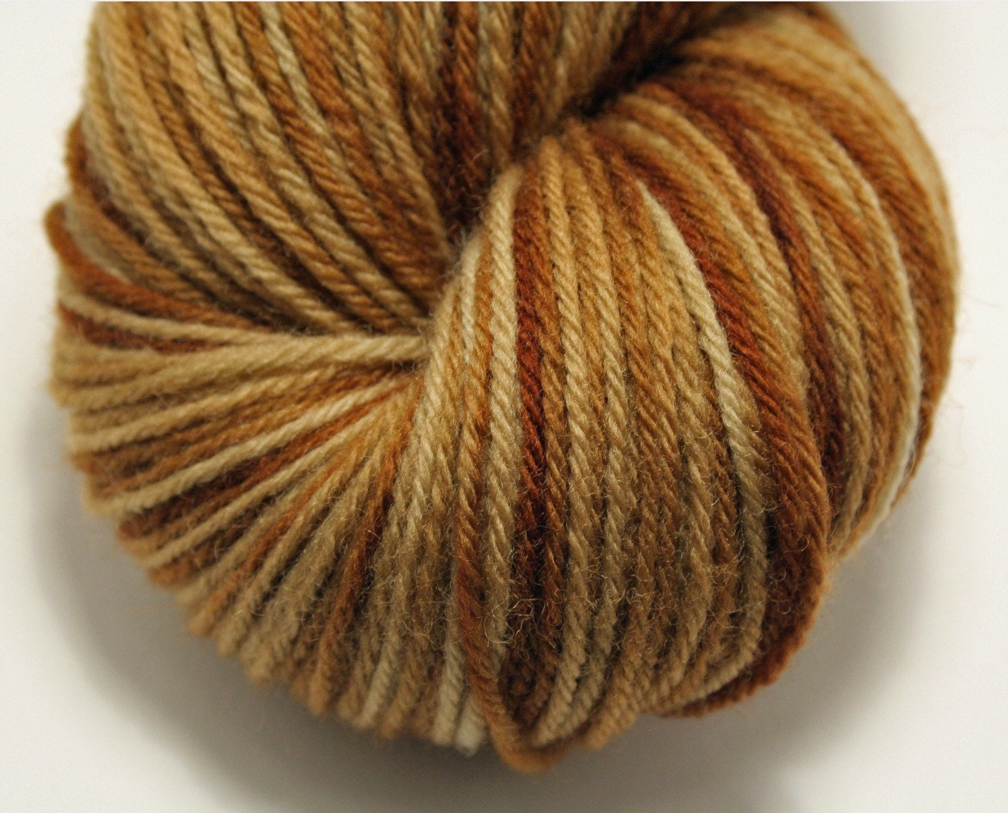 Hand-Dyed Fingering (Sock) Yarn Merino Wool- Toast 2