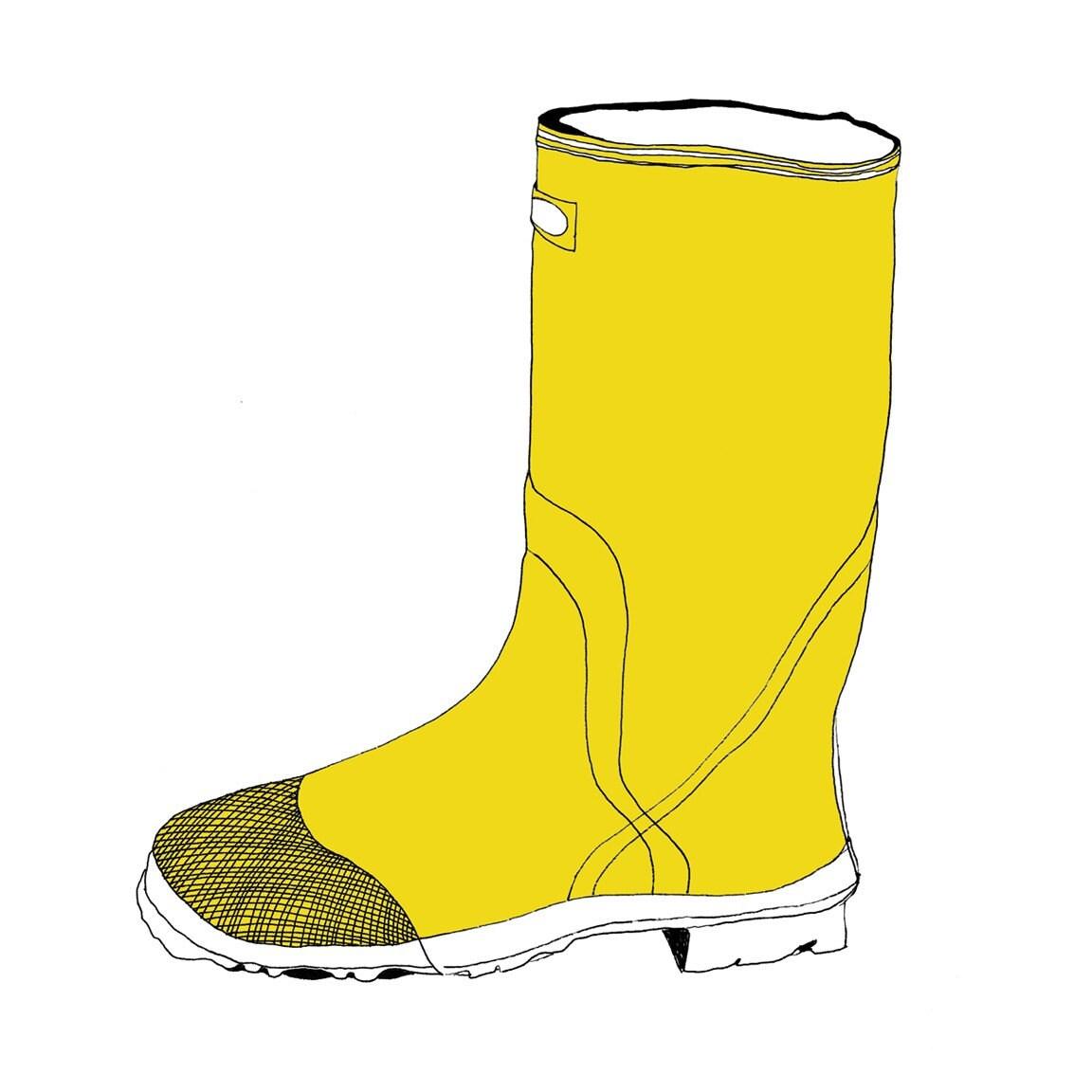 My favorite yellow boot - print