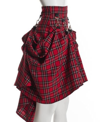 Plaid Black Red  Steam Punk Victorian by PinarEris from etsy.com