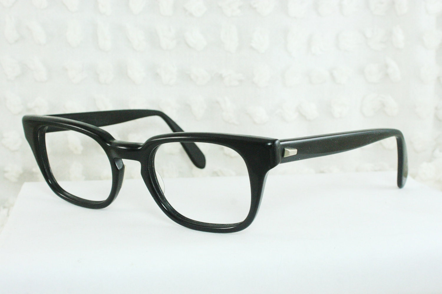 Thick Frame Glasses For Round Face : 1960s Mens Eyeglasses Horn Rim Thick Nerd Frame by DIAeyewear