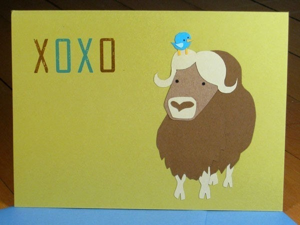 XOXO - Handcut Greeting Card from PaperMichelle