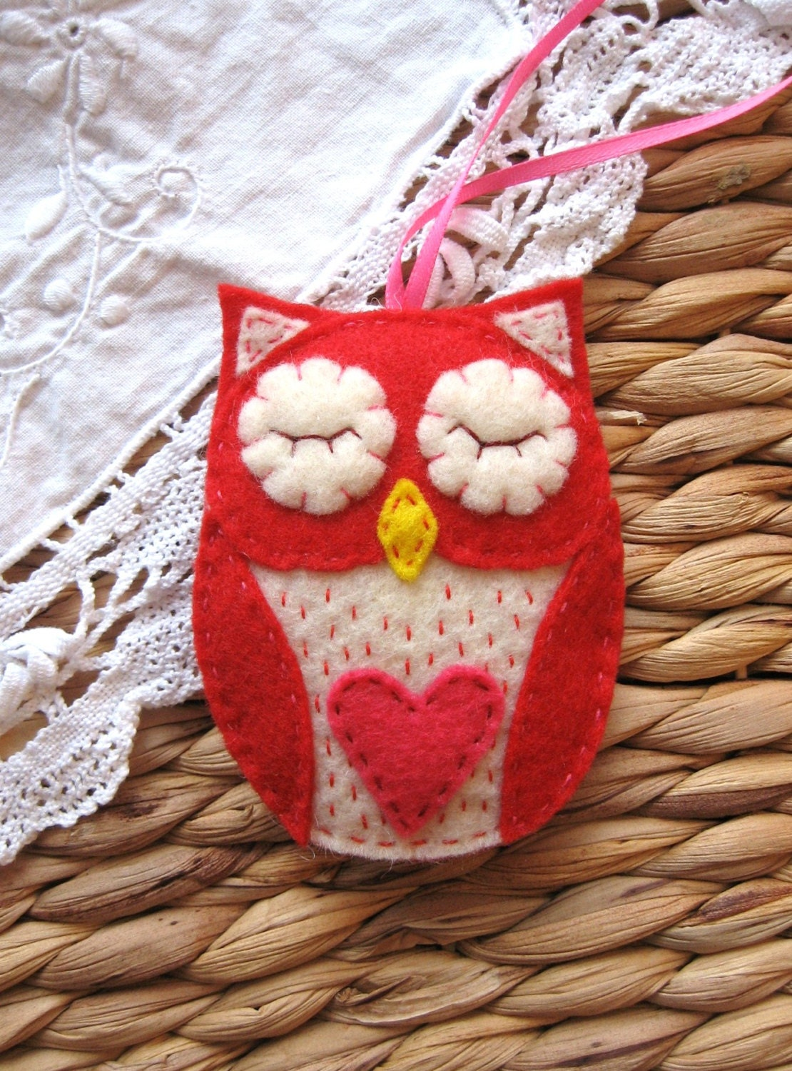 Red Valentine Owl