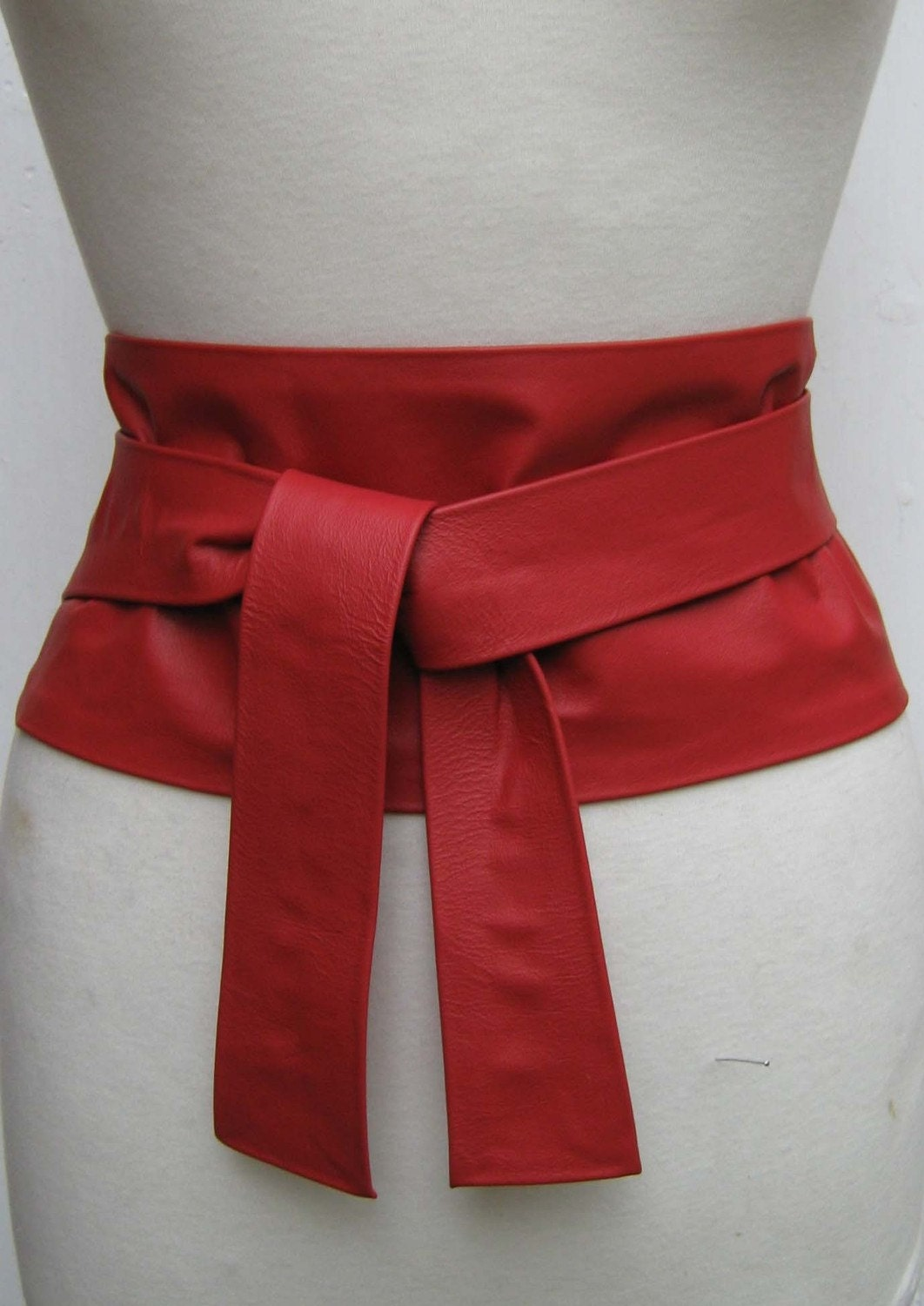 items similar to scarlet wide leather obi wrap belt on