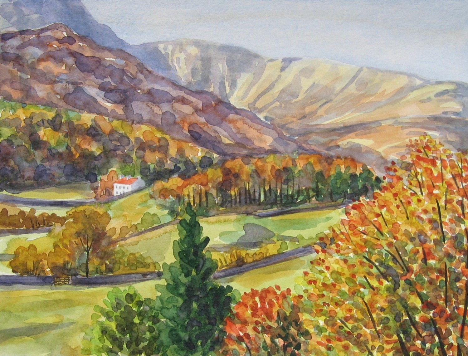 Reduced - Autumn - Original Watercolour - VAST Team SALE