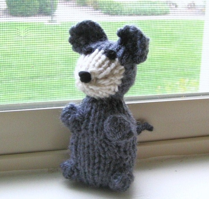 Amigurumi Knitted Animals : Amigurumi Mouse Miniature Hand Knit Stuffed Animal by ...