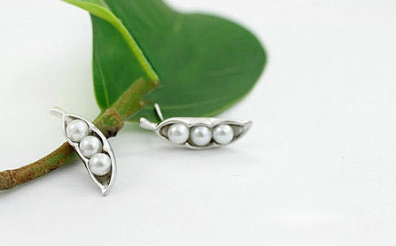 Silver Plated Pea Earrings
