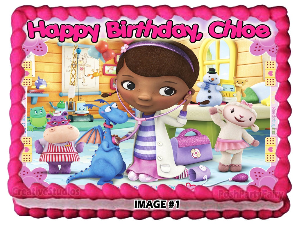 Personalized Doc Mcstuffins 1 Edible Image Cake By
