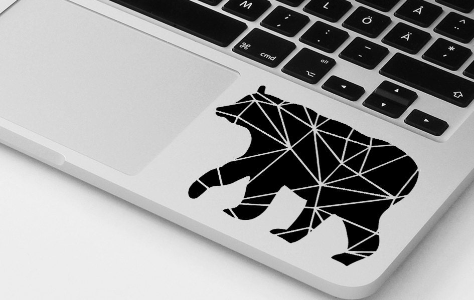 Macbook decal pro air geometrical bear vinyl sticker decal mural transfer graphic art laptop notebook skin Asus HP Toshiba Dell decal