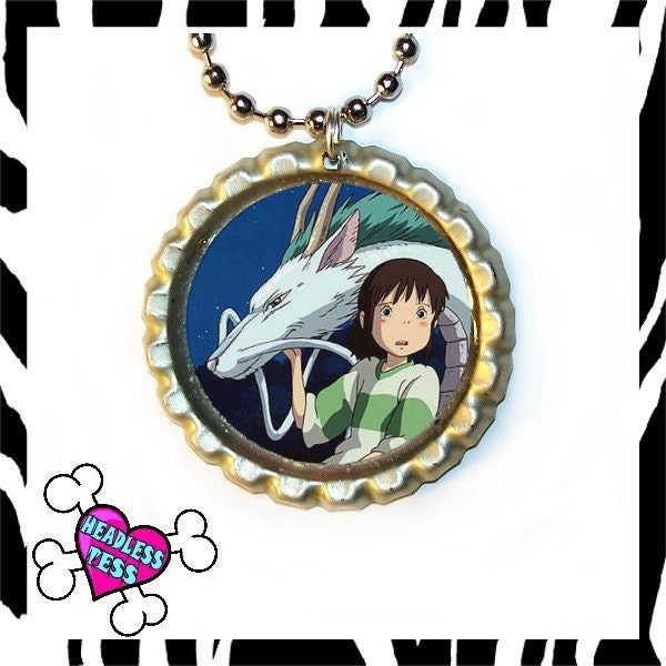 spirited away chihiro. Spirited Away Chihiro and Haku Pendant Free Ball Chain with Purchase