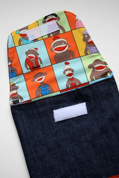 Sock Monkey Diaper Pouch