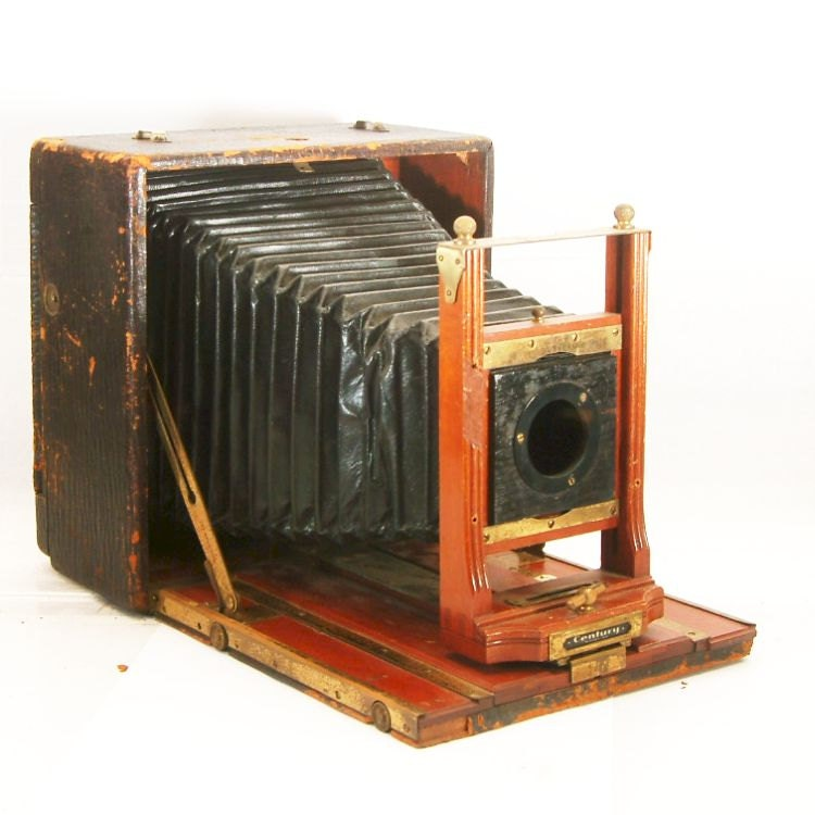 Vintage Camera Century 5x7 Wooden Large Format Folding Camera