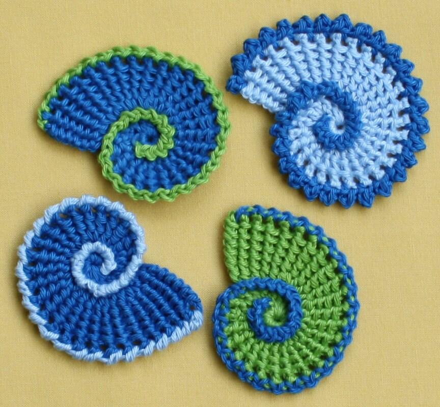 Sea Shell Applique crochet pattern PDF by CAROcreated on Etsy