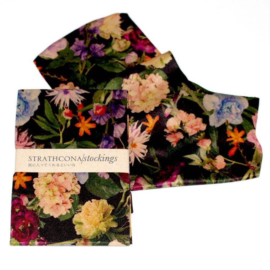 strathcona black floral