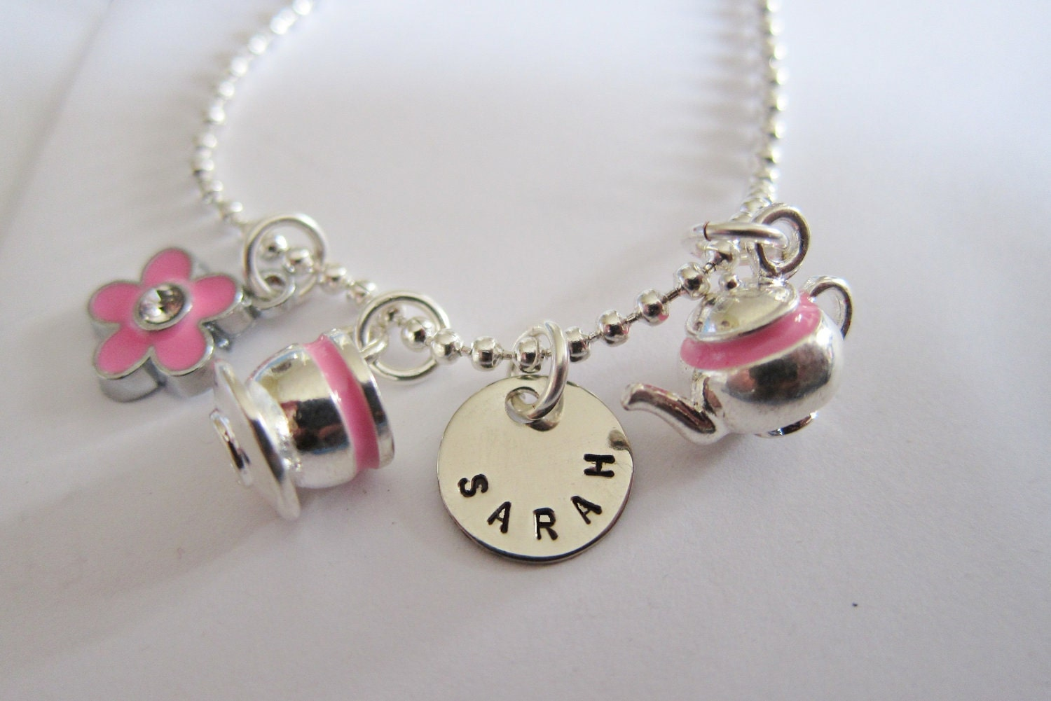 Personalized - Princess Tea Party - Tea Party - Tea Party Birthday - Tea Cup - Tea Pot - Mad Hatters Tea Party - Girls Charm Necklace - timbrodamore