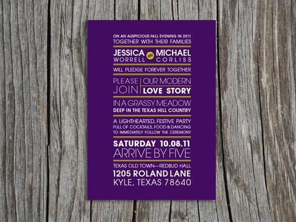 Custom Printable Wedding Invitation Response Card and Tie Tag MODERN LOVE