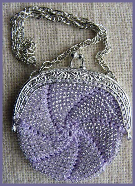 Beautiful Crochet Bags : Items similar to Beautiful Little Beaded Crocheted Purse / Bag on Etsy