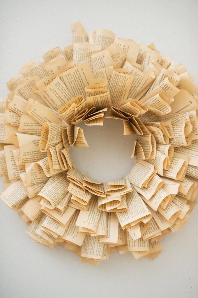 Book Wreath MEDIUM