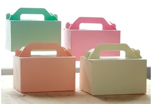 Pastel Color Cardboard Box ,15 x 10.5x (H)9cm (Set of 4 )