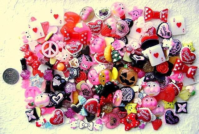 Hello Kitty, Anpanman, Halloween Pumpkin And My Melody Kuromi - 200 Cabochons On Etsy
