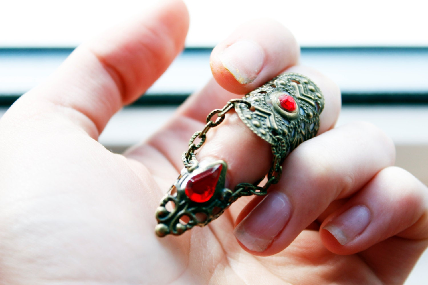 Vampire Armour  Blood Lust Ring  Adjustable Claw