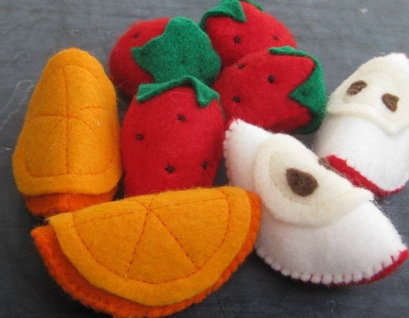 Fruit Felt Food (Apple Slices, Orange Slices, Strawberries)