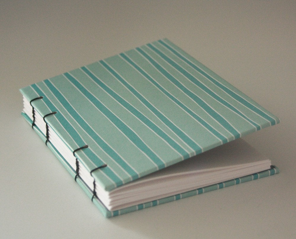 small hand bound journal BLUE BAMBOO