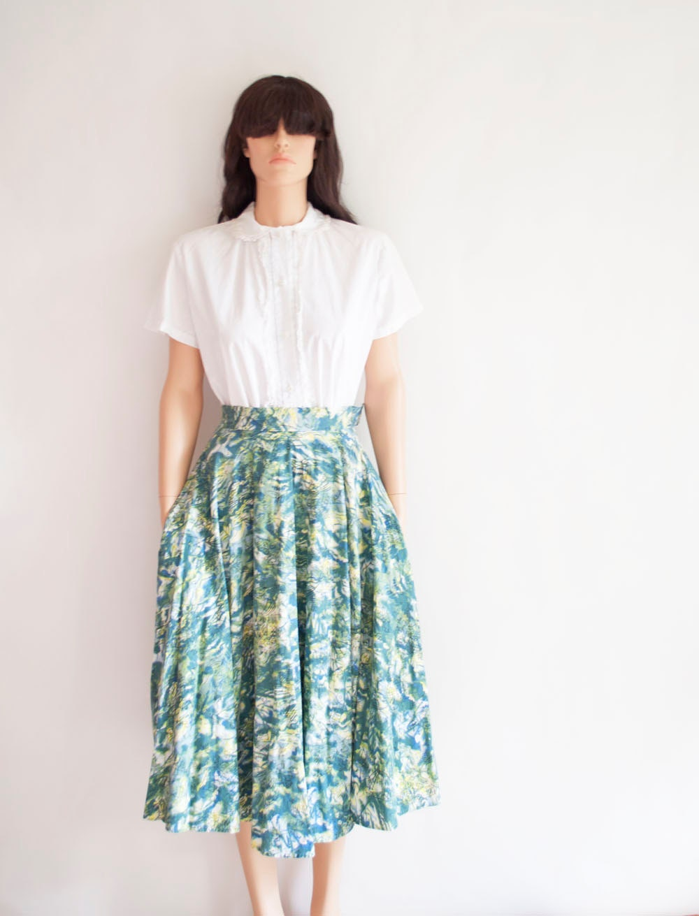 Vintage 50s INTO THE ETHER Full Skirt by MariesVintage on Etsy