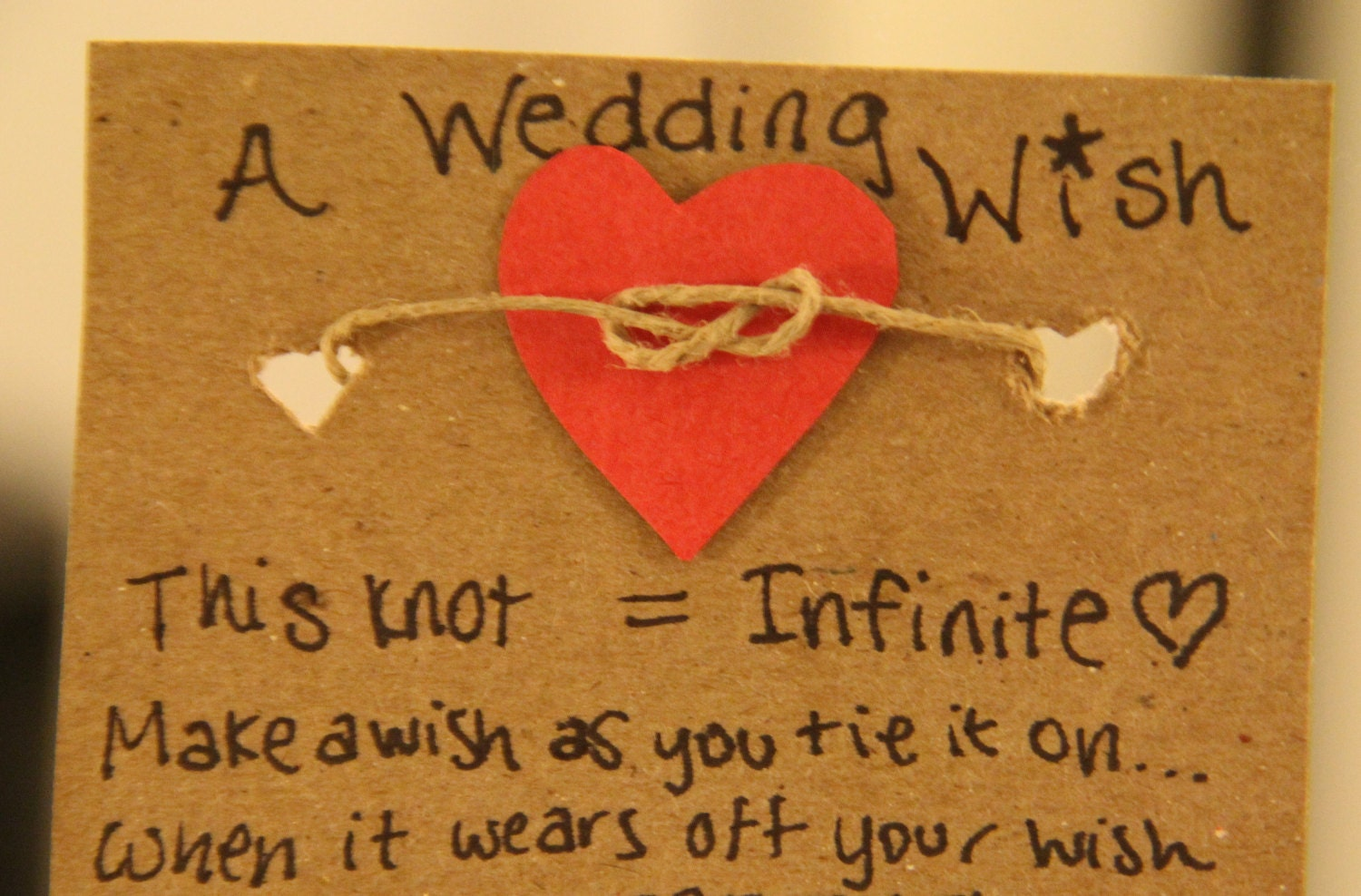 The Knot Wedding Gift List : similar to 50 A Wedding Wish Bracelet- TIE THE KNOT with Us, wedding ...