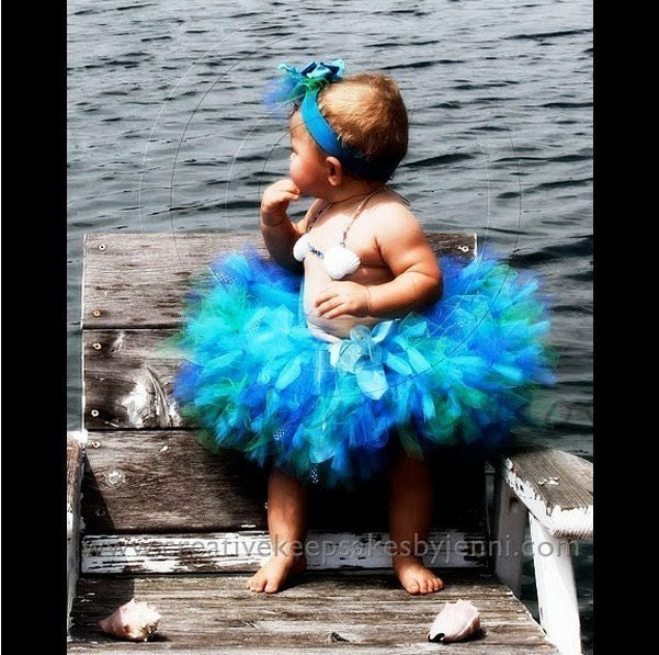 SALE - Sea Sprite Posh Petti Tutu Set - Custom Sizes