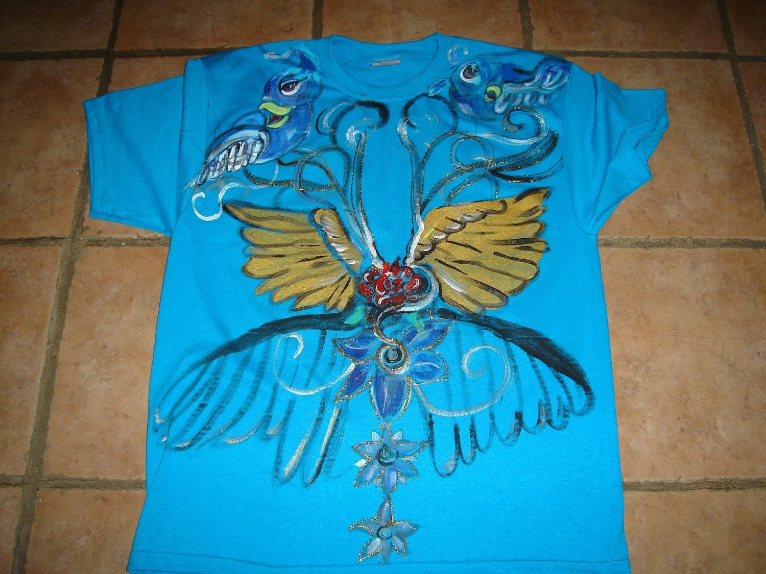 Handpainted wings of angels. From handdesigns
