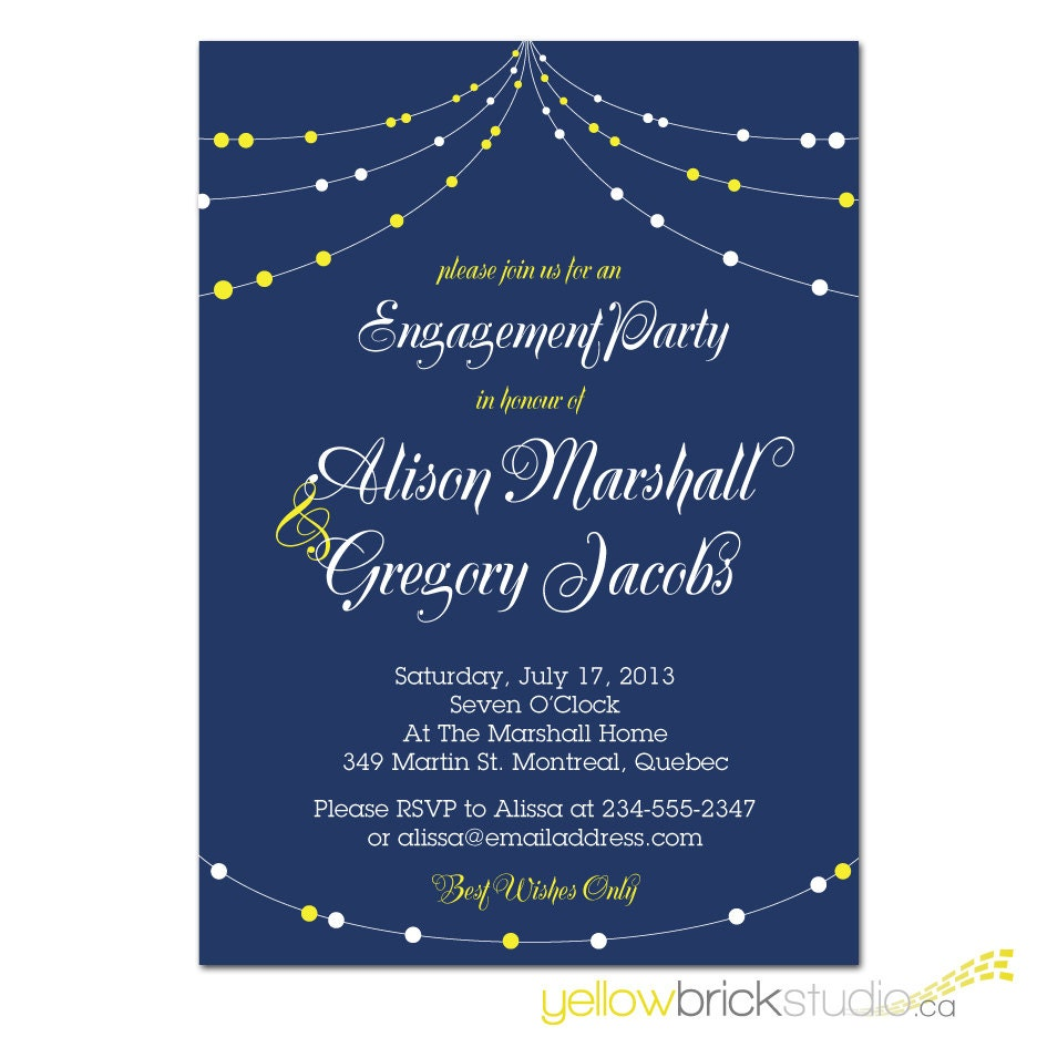 Engagement party invitation diy printable by yellowbrickstudio for Etsy engagement party invites
