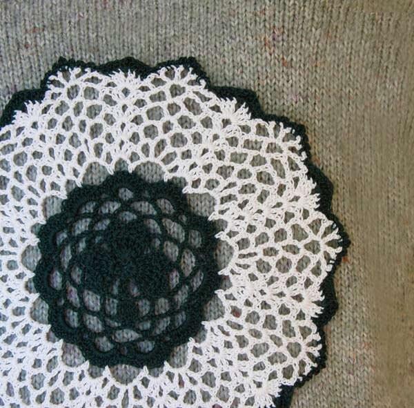 Irish Home Decor Shamrock Doily Crochet Lace Dark By