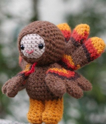 Crochet Pattern- Chester the turkey boy amigurumi doll