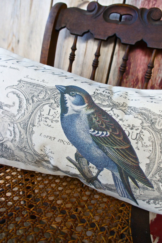 Птица Бросьте Чехол - Холст и Барлеп - 12 х 22