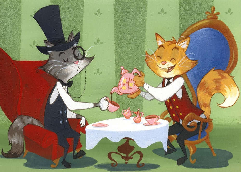 High Tea with Professor Catface Meowmers - Small Print