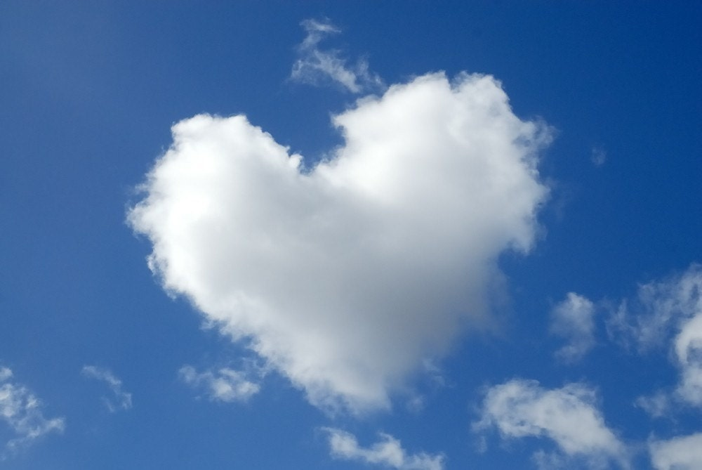 Heart Shaped Cloud .24x16