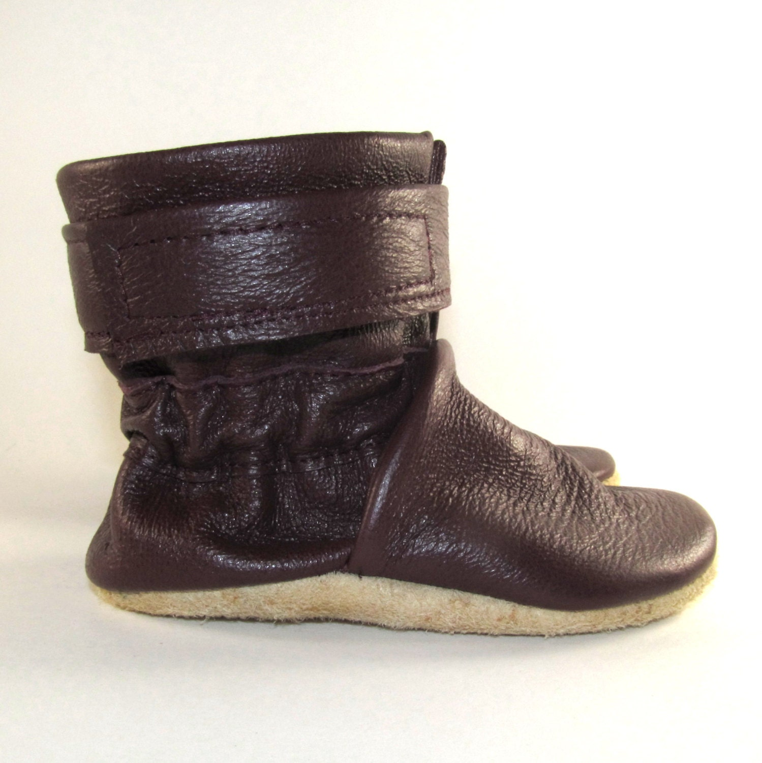 soft sole leather baby boots shoes 0 to 6 month by kaboogie