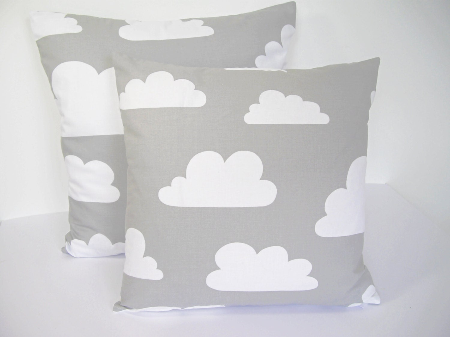 Scandinavian Farg & Form fabric Kids cushion cover - Clouds Grey - Andshine