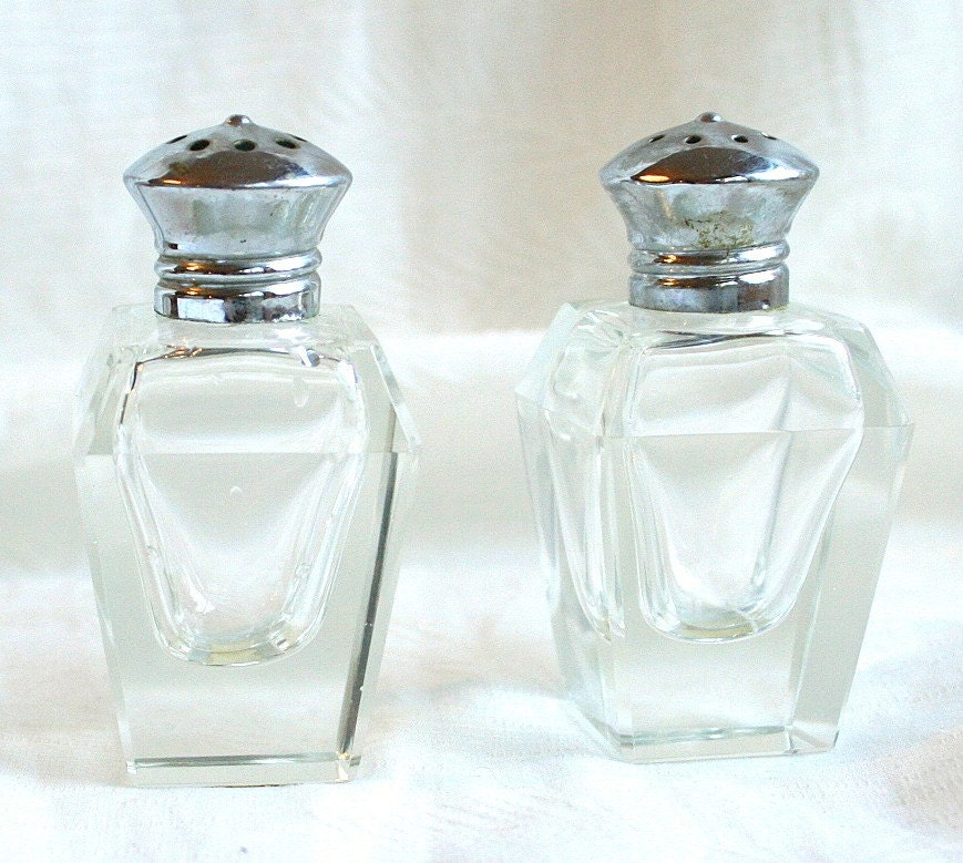 Vintage Art Deco Salt And Pepper Shakers By