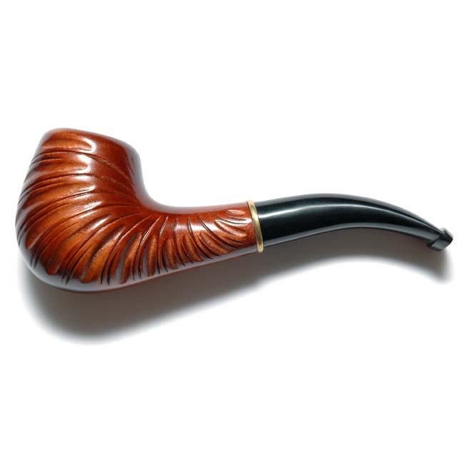 Hand Carved Pear-Root Wood Tobacco Smoking Pipe / Pipes SHELL fits 9mm filters FREE shipping