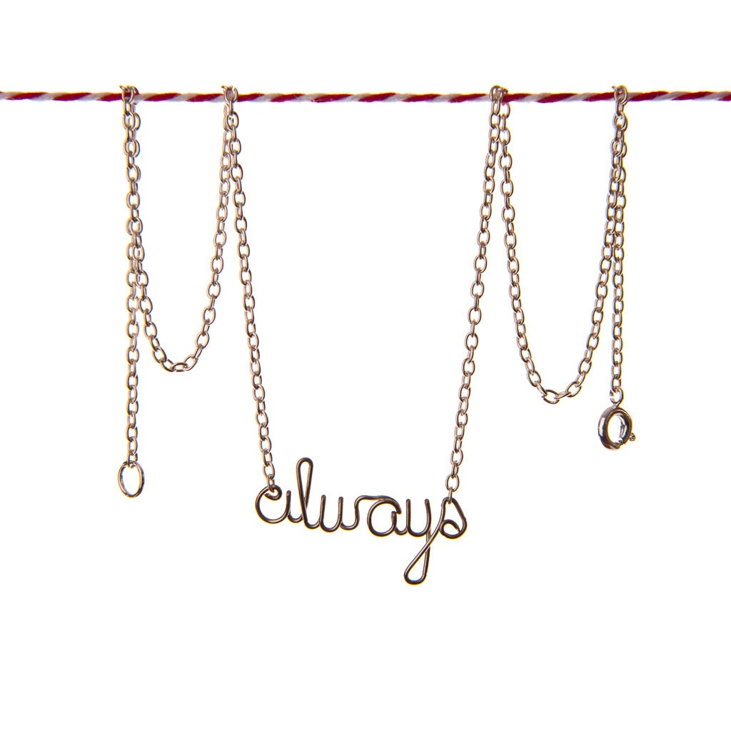 always necklace harry potter quote jewelry by exaltation