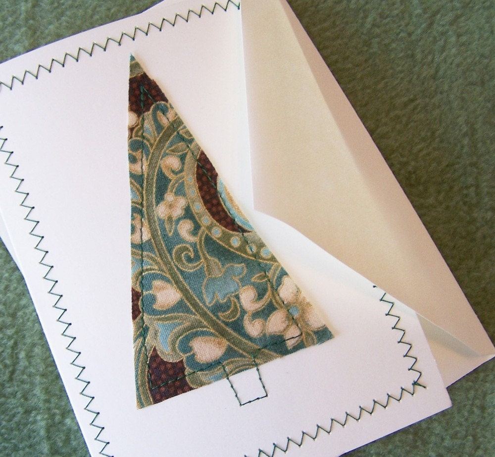 Fabric Tree Greeting Card