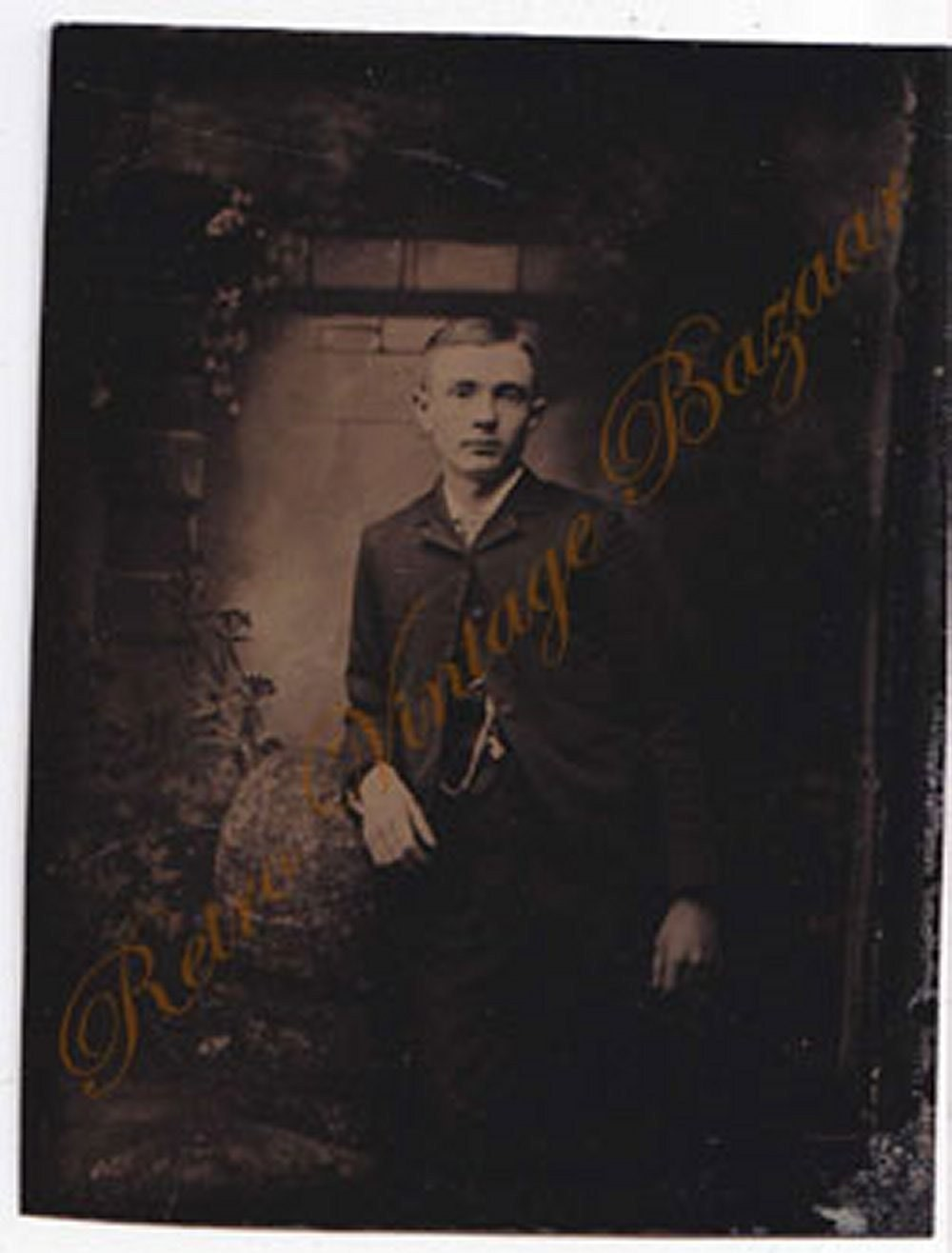 Tintype Photo Circa 1800s Suited Man