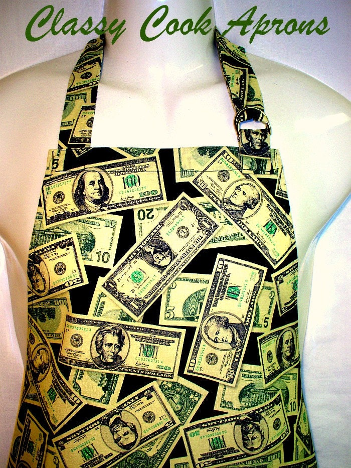Apron Mans, Mr. Money Bags, It's All About The Benjamins, BBQ Grill Fun Kitchen Unique Gift