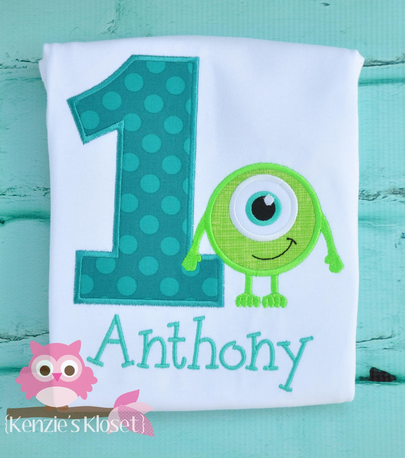Items similar to monsters inc monsters university for Personalized last name university shirts